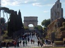 Ρώμη - άποψη του ιερού τρόπου Στοκ Εικόνες