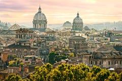 Ρώμη από Castel Sant'Angelo, Ιταλία. Στοκ Εικόνες