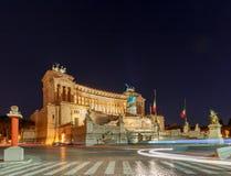 Ρώμη Βωμός της πατρικής γης τη νύχτα Στοκ φωτογραφία με δικαίωμα ελεύθερης χρήσης