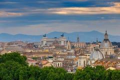 Ρώμη εναέρια όψη πόλεων στοκ εικόνες
