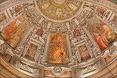 Ρώμη - η νωπογραφία δευτερεύον apse στην εκκλησία SAN Pietro Montorio Στοκ Φωτογραφίες
