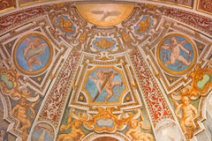 Ρώμη - η νωπογραφία apse στο παρεκκλησι ST Κλάρα στην εκκλησία Basilica Di Sant Agostino (Augustine) Στοκ Εικόνα