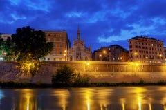 Ρώμη Η παλαιά εκκλησία στην προκυμαία στοκ εικόνα
