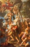 Ρώμη - η σταύρωση του ST Andrew ο απόστολος στην εκκλησία Basilica Di Sant Andrea delle Fratte από Lazzaro Baldi (1624 - 1703) στοκ φωτογραφίες με δικαίωμα ελεύθερης χρήσης