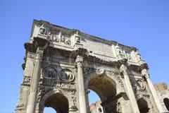 Ρώμη, Ιταλία, αψίδα του αυτοκράτορα του Constantine Στοκ Φωτογραφίες