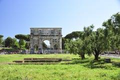 Ρώμη, Ιταλία, αψίδα του αυτοκράτορα του Constantine Στοκ Εικόνα