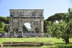 Ρώμη, Ιταλία, αψίδα του αυτοκράτορα του Constantine Στοκ Φωτογραφία