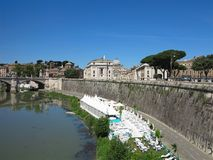 19 06 2017, Ρώμη, Ιταλία: Γέφυρα Sant ` Angelo στο Αδριανό Maus Στοκ Εικόνες