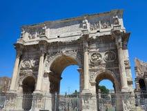 19 06 2017, Ρώμη, Ιταλία, Ευρώπη: Διάσημη αψίδα του Constantine Στοκ εικόνα με δικαίωμα ελεύθερης χρήσης