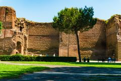 Ρώμη, Ιταλία - 26 Μαΐου 2018: λουτρά Caracalla στοκ εικόνα