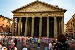 Ρώμη, Ιταλία - 27 Μαΐου 2018: Pantheon στοκ φωτογραφίες