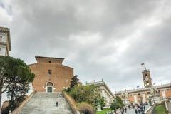 Ρώμη, Ιταλία, το Φεβρουάριο του 2017: άποψη του Hill Capitoline στη Ρώμη Στοκ φωτογραφίες με δικαίωμα ελεύθερης χρήσης