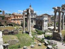 19 06 2017, Ρώμη, Ιταλία: Όμορφη άποψη των καταστροφών διάσημου Ρωμαίου Στοκ Εικόνες