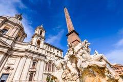 Ρώμη, Ιταλία - αιγυπτιακός οβελίσκος στην πλατεία Navona Στοκ Εικόνες