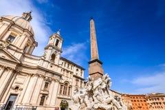 Ρώμη, Ιταλία - αιγυπτιακός οβελίσκος στην πλατεία Navona Στοκ φωτογραφίες με δικαίωμα ελεύθερης χρήσης