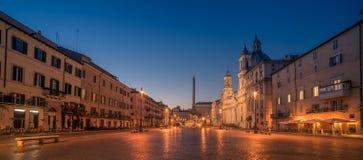 Ρώμη, Ιταλία: Πλατεία Navona στην ανατολή Στοκ φωτογραφία με δικαίωμα ελεύθερης χρήσης
