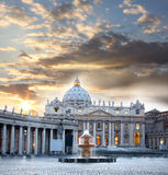 Ρώμη με Βατικανό, Ιταλία Στοκ εικόνα με δικαίωμα ελεύθερης χρήσης