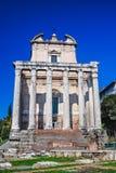 Ρώμη, ναός Antoninus και Faustina Στοκ Φωτογραφία