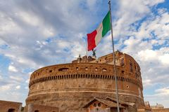 Ρώμη Οχυρό του ιερού αγγέλου στοκ φωτογραφία