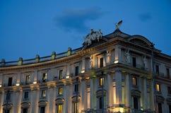 Ρώμη, παλάτια στο τετράγωνο Δημοκρατίας Στοκ Εικόνες