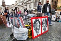 Ρώμη - πλατεία Navona Στοκ εικόνα με δικαίωμα ελεύθερης χρήσης