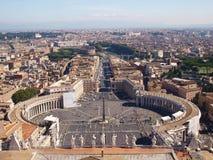 Ρώμη από τη βασιλική του ST Peter, Βατικανό Στοκ Εικόνες