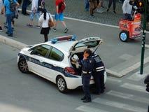 Ρώμη - σπόλα κυκλοφορίας στο σπάσιμο τσιγάρων Στοκ Εικόνες