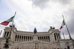 Ρώμη: τετραγωνικό Venezia, ο βωμός της πατρίδας Στοκ Εικόνες