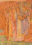 Ρώμη - το μωσαϊκό των γυναικών Αγίων κύριο apse του dentro LE Mura εκκλησιών αγγλικανών Chiesa Di SAN Paolo Στοκ εικόνες με δικαίωμα ελεύθερης χρήσης