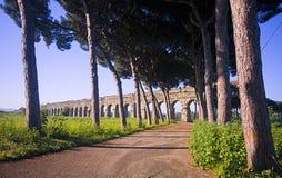 Ρώμη: το πάρκο των υδραγωγείων Στοκ εικόνα με δικαίωμα ελεύθερης χρήσης