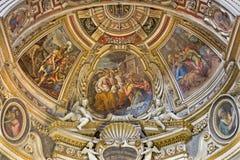 Ρώμη - apse του δευτερεύοντος παρεκκλησιού του ST John στην εκκλησία Chiesa Di Santo Spirito σε Sassia από το Marcelo Venusti (15 Στοκ Φωτογραφία