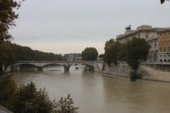 Ρώμη Castel ST Angelo Tiber Στοκ Φωτογραφία
