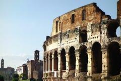 Ρώμη Colosseum και αυτοκρατορική πανοραμική άποψη φόρουμ Στοκ φωτογραφία με δικαίωμα ελεύθερης χρήσης