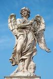 Ρώμη - Ponte Sant'Angelo - γέφυρα αγγέλων - άγγελος με την κορώνα των αγκαθιών Γ Λ Bernini και γιος Paolo Στοκ φωτογραφία με δικαίωμα ελεύθερης χρήσης