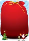 Σάκος Santa - απεικόνιση Στοκ εικόνα με δικαίωμα ελεύθερης χρήσης