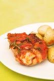 σάλτσα πατατών κοτόπουλ&omicron Στοκ Εικόνες