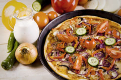 σάλτσα συστατικών πιτσών στοκ φωτογραφία με δικαίωμα ελεύθερης χρήσης