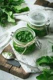 Σάλτσα Pesto στοκ εικόνες με δικαίωμα ελεύθερης χρήσης