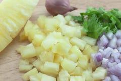 Σάλτσα salsa ανανά Στοκ Φωτογραφίες
