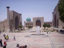 Σάμαρκαντ Η πλατεία Registan Στοκ Εικόνες
