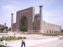 Σάμαρκαντ Sherdor Madrasah Registan Στοκ Εικόνες