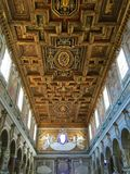 Σάντα Μαρία σε Ara Coeli, Ρώμη, Ιταλία Ανώτατο όριο της εκκλησίας Στοκ Εικόνες