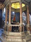 Σάντα Μαρία σε Ara Coeli, Ρώμη, Ιταλία εσωτερικό εκκλησιών Στοκ Εικόνες
