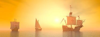 Σάντα Μαρία, Niña και Pinta του Christopher Columbus Στοκ Φωτογραφία