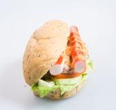 σάντουιτς ή σάντουιτς υγείας στο υπόβαθρο Στοκ Εικόνα