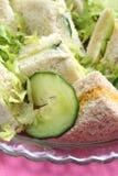 σάντουιτς αγγουριών Στοκ φωτογραφία με δικαίωμα ελεύθερης χρήσης
