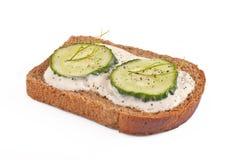 σάντουιτς αγγουριών Στοκ Εικόνες