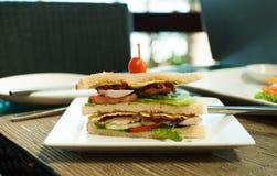 Σάντουιτς για το επιχειρησιακό μεσημεριανό γεύμα Στοκ Εικόνα