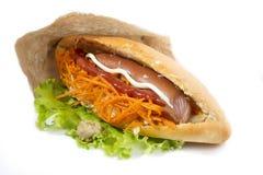 Σάντουιτς γρήγορου φαγητού Στοκ Εικόνα