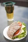 Σάντουιτς ζαμπόν, τυριών και ντοματών Στοκ φωτογραφία με δικαίωμα ελεύθερης χρήσης